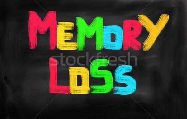 Memóriazavar orvosi agy idős törődés ötlet Stock fotó © KrasimiraNevenova