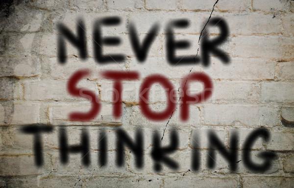決して 停止 思考 無料 ビジョン 創造 ストックフォト © KrasimiraNevenova