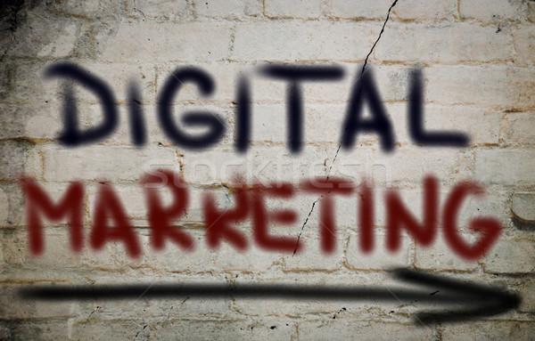 Dijital pazarlama iş teknoloji web yazı Stok fotoğraf © KrasimiraNevenova