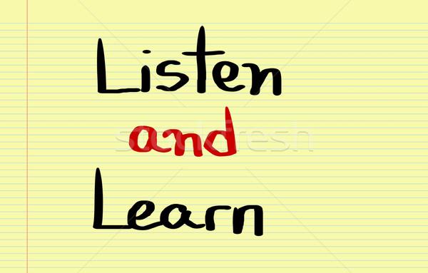 Listen And Learn Concept Stock photo © KrasimiraNevenova