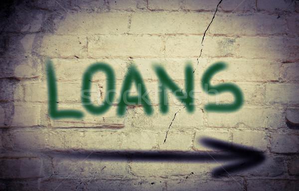 Loans Concept Stock photo © KrasimiraNevenova