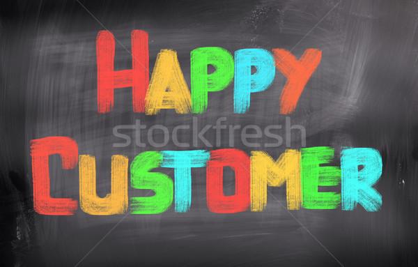 Felice cliente servizio successo marketing target Foto d'archivio © KrasimiraNevenova