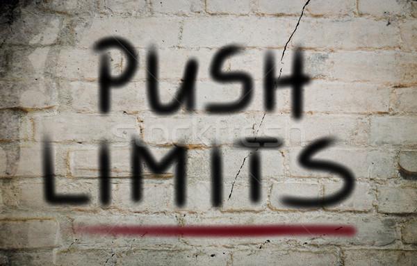 Push Limits Concept Stock photo © KrasimiraNevenova