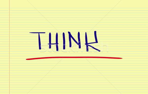мышления концепция планирования ума текста изменений Сток-фото © KrasimiraNevenova