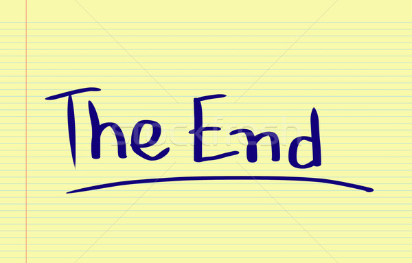 The End Concept Stock photo © KrasimiraNevenova
