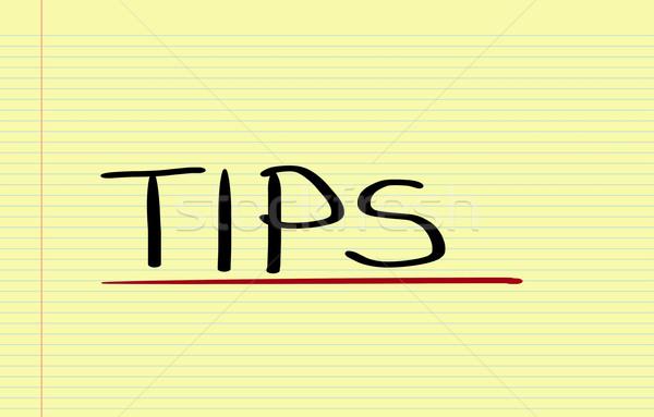 Tipps helfen Service Informationen Unterstützung Management Stock foto © KrasimiraNevenova