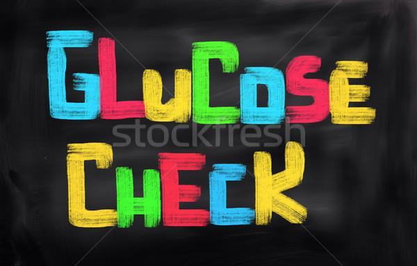 Glucose vérifier médicaux santé science personne Photo stock © KrasimiraNevenova