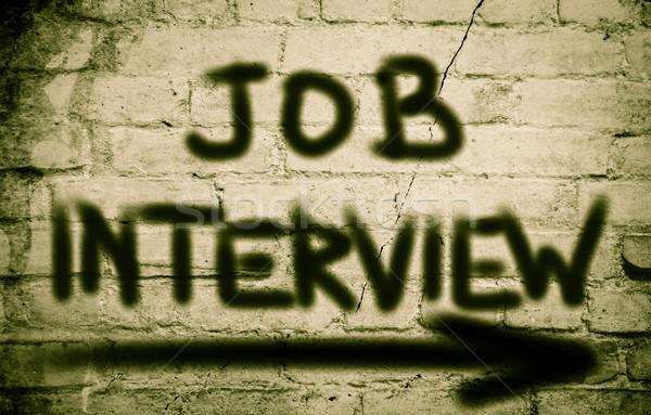 Entrevista de emprego reunião carta trabalho informação idéia Foto stock © KrasimiraNevenova