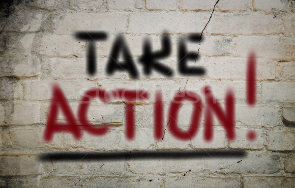 Stock photo: Take Action Concept