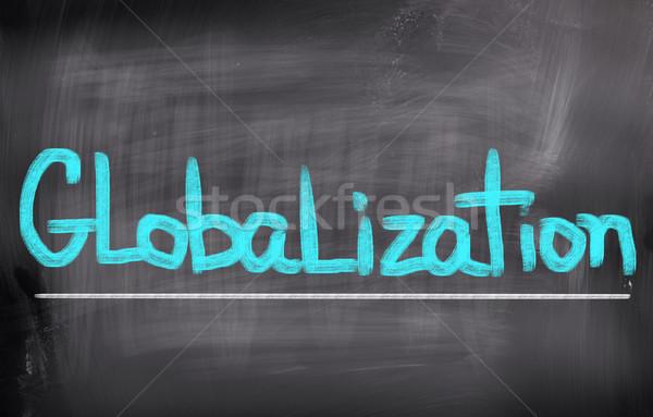 Globalizzazione costruzione mondo gruppo squadra corporate Foto d'archivio © KrasimiraNevenova