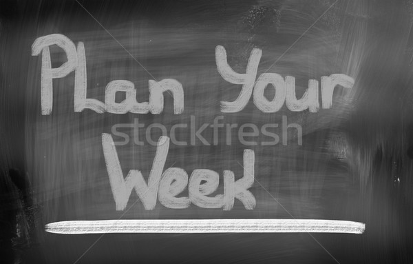 Plan Your Week Concept Stock photo © KrasimiraNevenova
