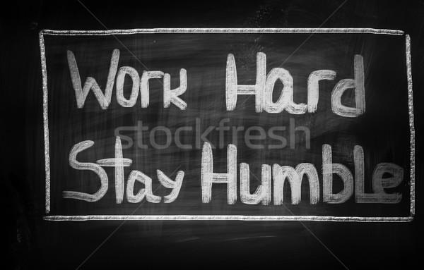 Werk blijven business werknemer financieren Stockfoto © KrasimiraNevenova