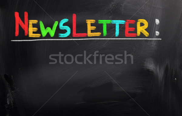 Stock photo: Newsletter Concept