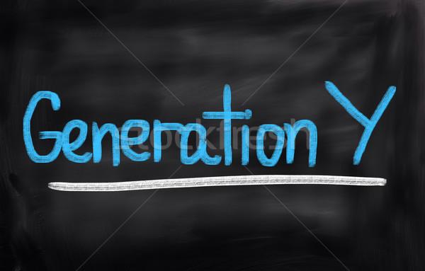 Generatie internet schrijven succes denken beheer Stockfoto © KrasimiraNevenova