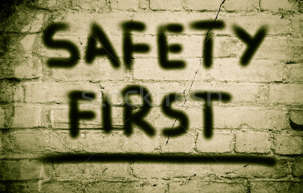 Safety First Concept Stock photo © KrasimiraNevenova
