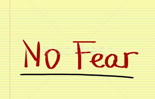 No Fear Concept Stock photo © KrasimiraNevenova