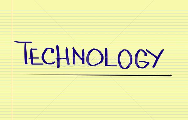 Technológia oktatás erő gondolkodik előrelátás kreatív Stock fotó © KrasimiraNevenova
