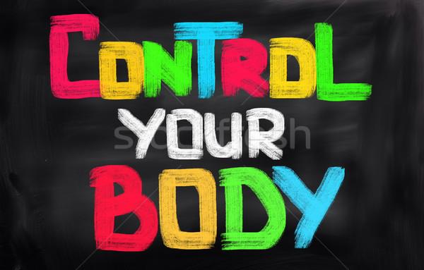 Control peso deporte cuerpo fitness fondo Foto stock © KrasimiraNevenova
