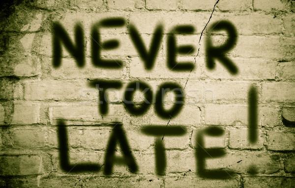 Сток-фото: никогда · поздно · печально · время · успех · страхом