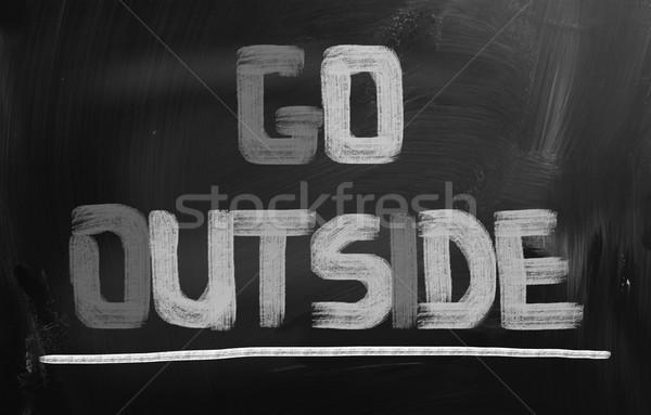 Go Outside Concept Stock photo © KrasimiraNevenova