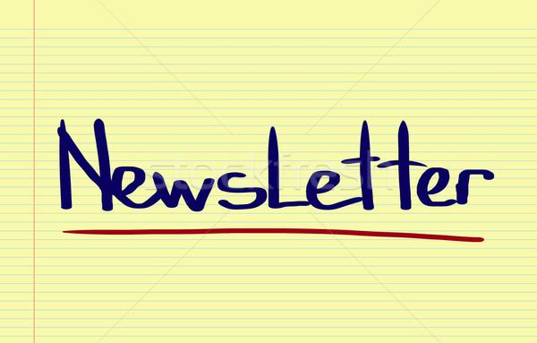 Boletim informativo assinar teia e-mail carta informação Foto stock © KrasimiraNevenova