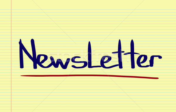 Newsletter segno web mail lettera informazioni Foto d'archivio © KrasimiraNevenova