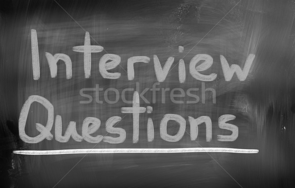 Interview Questions Concept Stock photo © KrasimiraNevenova