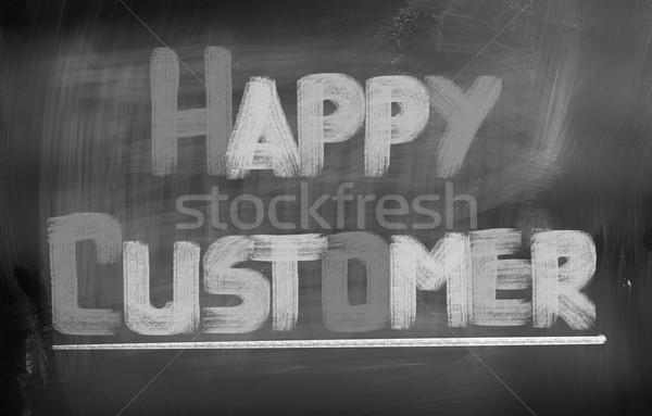 Felice cliente business servizio marketing target Foto d'archivio © KrasimiraNevenova