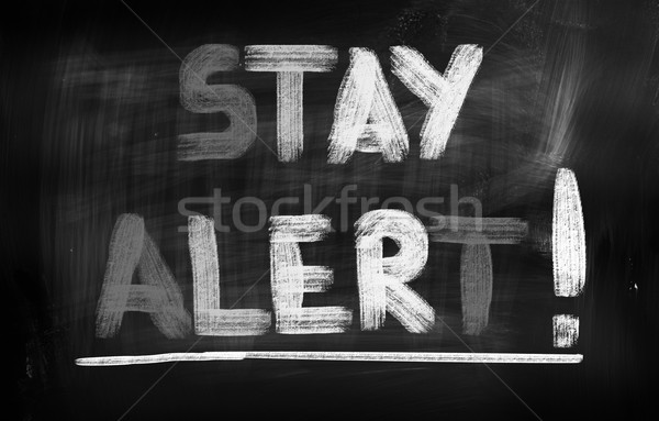 Stay Alert Concept Stock photo © KrasimiraNevenova