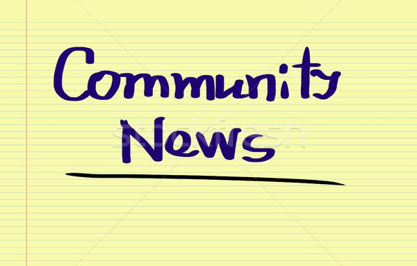 Community News Concept Stock photo © KrasimiraNevenova