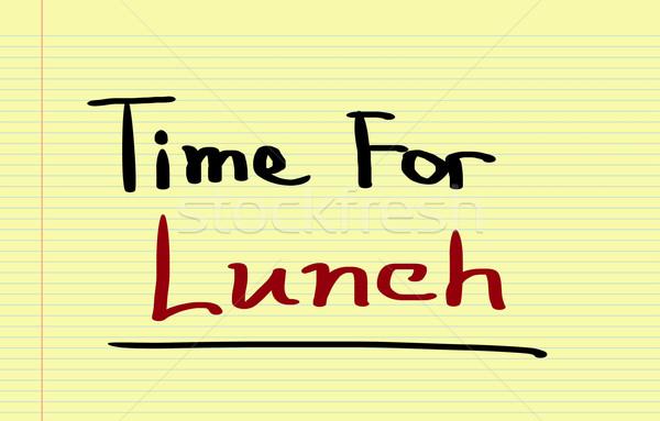 Tiempo almuerzo alimentos trabajo fondo cocina Foto stock © KrasimiraNevenova