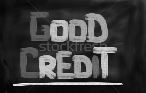 Good Credit Concept Stock photo © KrasimiraNevenova