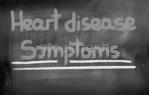 Enfermedad del corazón medicina estrés enfermos atención pecho Foto stock © KrasimiraNevenova