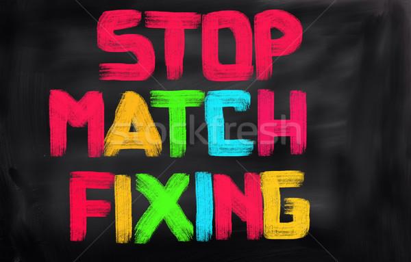 Stop Game Fixing Concept Stock photo © KrasimiraNevenova