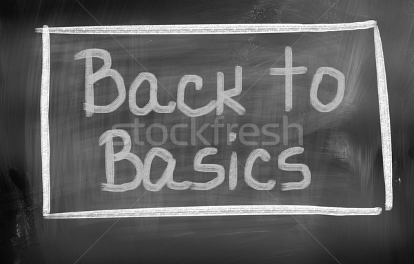Stock photo: Back To Basics Concept