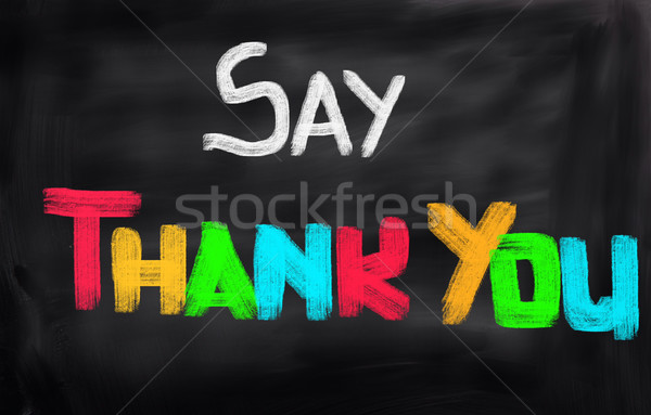 Merci écrit texte communiquer conceptuel mot Photo stock © KrasimiraNevenova