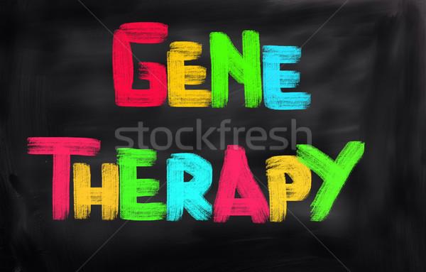 Gen therapie arts geneeskunde chemie cel Stockfoto © KrasimiraNevenova
