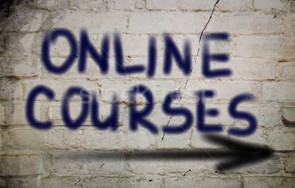 Online Courses Concept Stock photo © KrasimiraNevenova