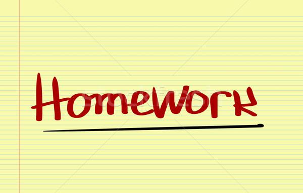 Praca domowa papieru szkoły klawiatury internetowych notebooka Zdjęcia stock © KrasimiraNevenova