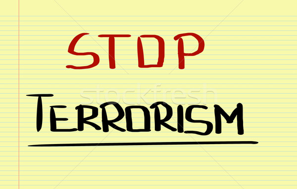 Stop terrorismo sicurezza morte squadra target Foto d'archivio © KrasimiraNevenova