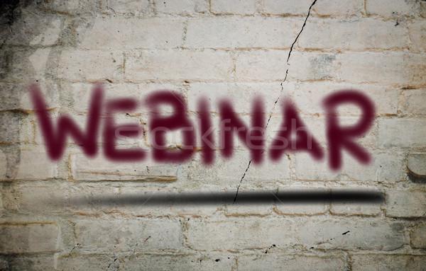 Webinar tecnologia rete studio formazione presentazione Foto d'archivio © KrasimiraNevenova