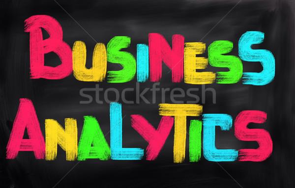 Negócio analítica corporativo mercado sucesso informação Foto stock © KrasimiraNevenova