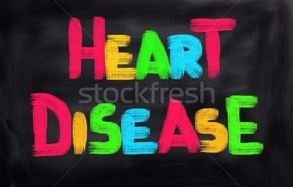 Malattie cardiache cuore bellezza seno dolore petto Foto d'archivio © KrasimiraNevenova