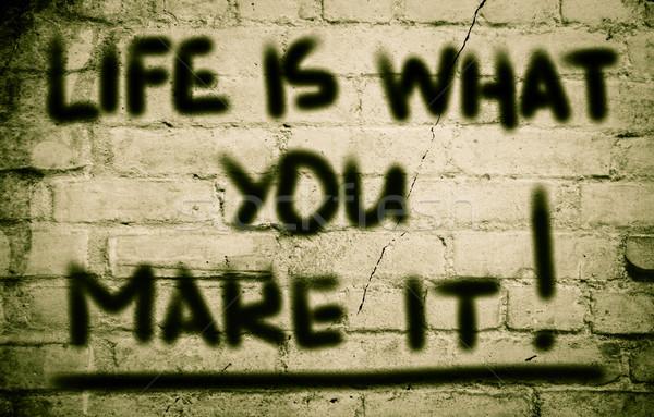 Life Is What You Make It Concept Stock photo © KrasimiraNevenova