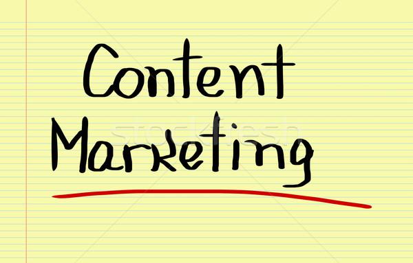 Content Marketing Concept Stock photo © KrasimiraNevenova