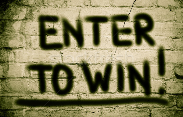 Enter To Win Concept Stock photo © KrasimiraNevenova