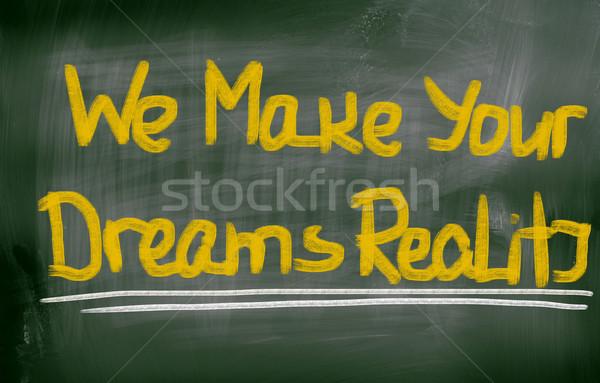 Мечты реальность Финансы связи успех Сток-фото © KrasimiraNevenova