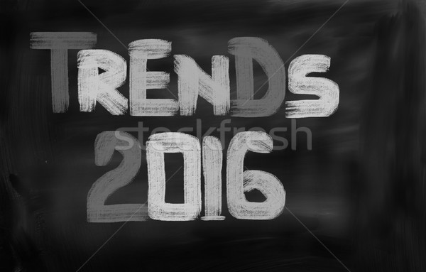 Tendances 2016 affaires internet technologie entreprise Photo stock © KrasimiraNevenova