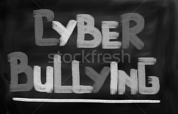 Megfélemlítés oktatás média törődés erőszak weboldal Stock fotó © KrasimiraNevenova