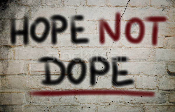 Stock photo: Hope Not Dope Concept
